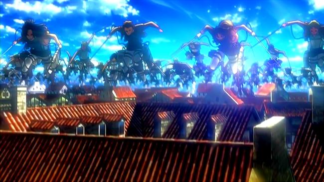 OP屋根から大量の兵士