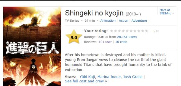 IMDbスクリーンショット