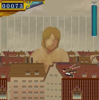 ブラウザゲーム「巨人」のプレイ画面