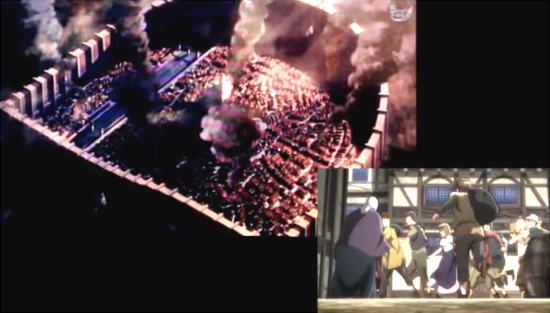 街は住民が混乱に満ち溢れた中、福岡の映像では街のみが・・