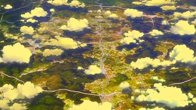 空から見た壁の内側、人類領域