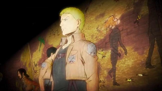 EDの壁画の前に立つライナー