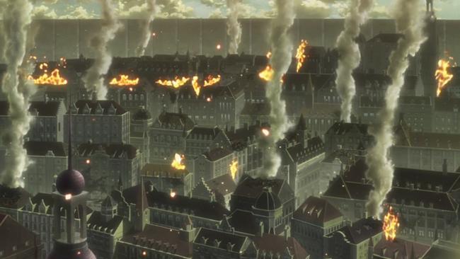 崩壊した街