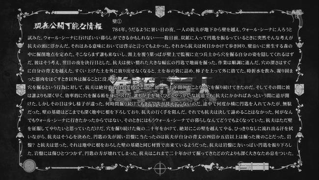 現在公開可能な情報アニメ25話その1