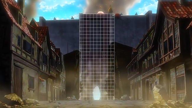 トロスト区の壁の穴グリッド表示