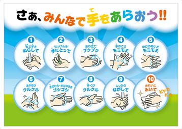 手洗い手順 画像1