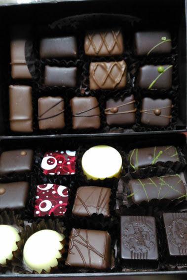 お友達が送ってくれた手作りチョコレート