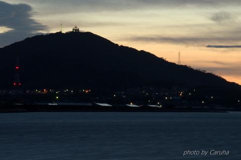 蔵王山夕景