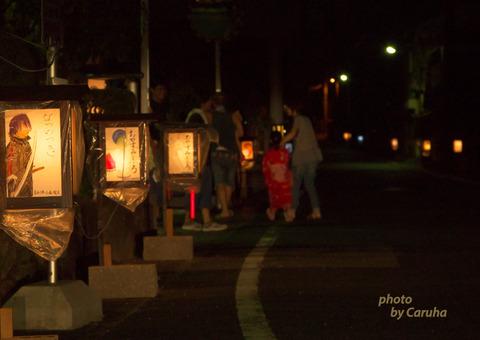 赤坂宿の行灯