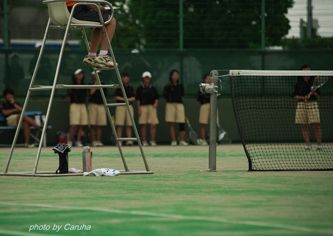 ソフトテニスの大会で