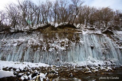 白川の氷柱群