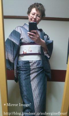 Tsumugi Kimono with Doll's Day Obi
