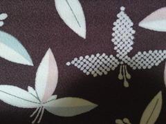 Maroon Taisho-esque Kimono Detail
