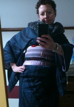 Black & Blue Curvy Stripe Yuuki