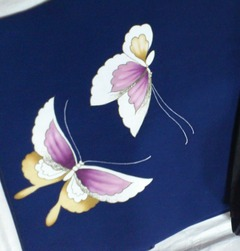 Blue Butterfly Nagoya Obi
