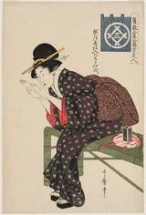 7 Utamaro_Echigoya shi-ire no chijimi muki BMFA