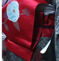 red camellia obi