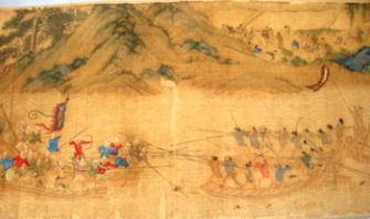 Japan's scroll of Wako pirates l