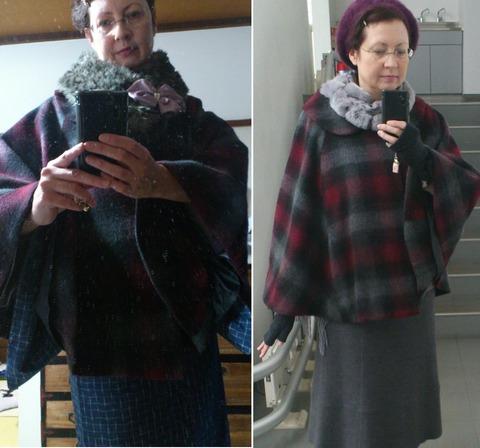 Plaid Kimono Coat