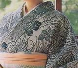 yukata with wide kimono collar