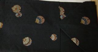 Black obi balls detail