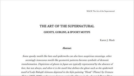 Art of the Supernatural 1st page