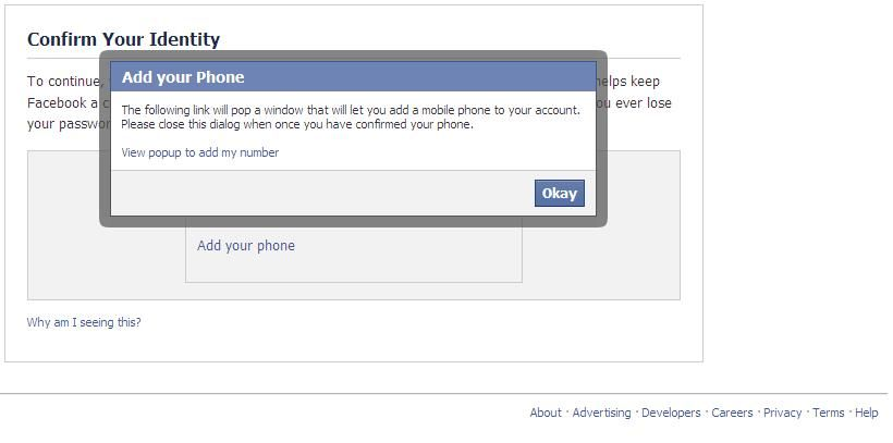 how to change mobile number for facebook confirmation code