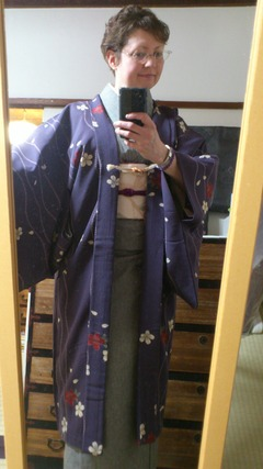Purple Sakura Haori