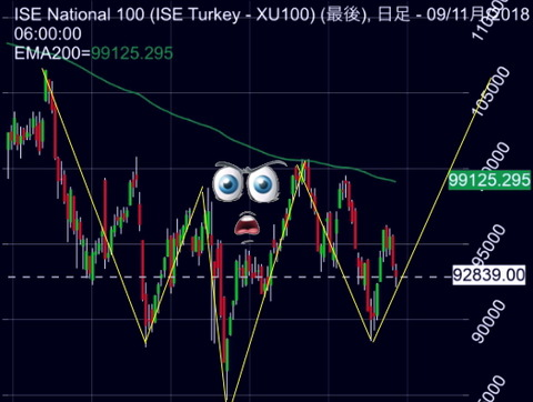 トルコ株日足