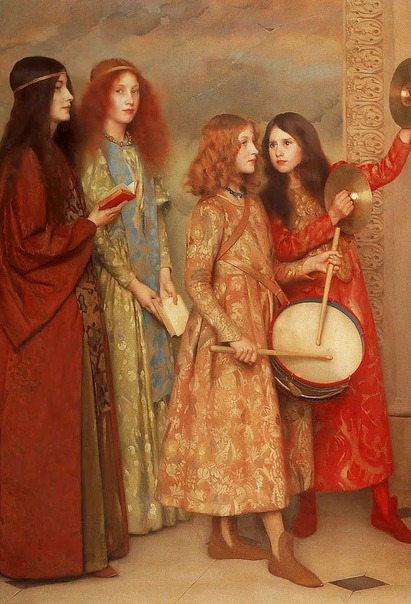 Thomas COOPER GOTCH A Pageant of Childhood (Detail) 1895 (1)