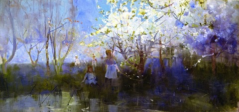Charles Conder - Orchard Scene