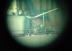 イージス艦の大砲を観測