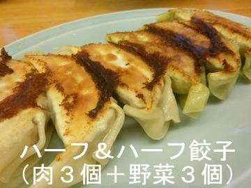 ハーフ&ハーフ餃子