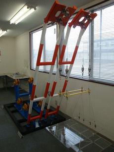 起重機船の模型