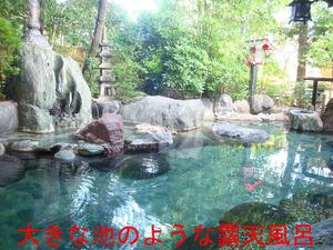 大きな池のような露天風呂