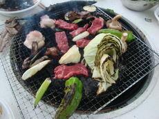 焼肉、焼き野菜