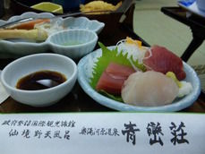 青巒荘の夕食