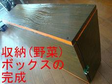 収納(野菜)ボックスの完成