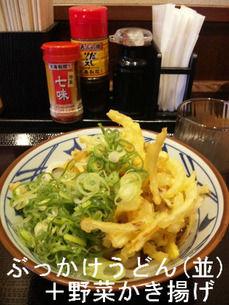 ぶっかけうどん(並)+野菜かき揚げ