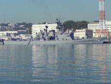 長浦港のイージス艦
