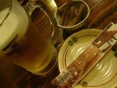 お通しと生ビール中ジョッキ