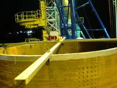 鋼管杭出来形測量