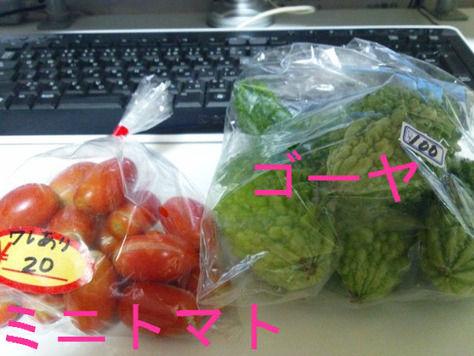 ミニトマト、ゴーヤ