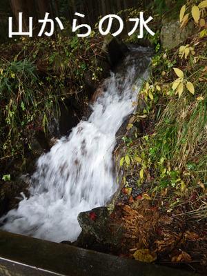 山からの水