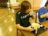 選手食堂 山浦選手