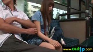 瑠川リナ/バスで痴漢され性欲発散のためだけに強制フェラをさせられる美少女!