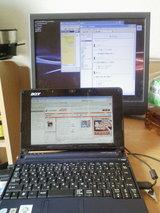 パソコンと画面