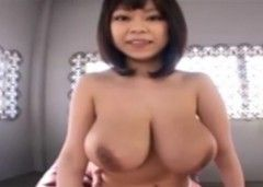 <爆乳動画>桜木莉愛 メッチャパイオツのデカいお姉さんのオッパイやマ○コを刺激しまくり、生挿入してぶっかけ!
