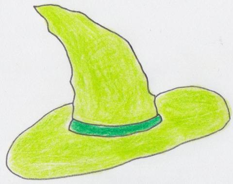 緑魔女帽子