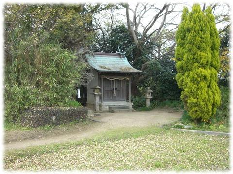 小さな森の中の素朴な神社